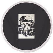 Art Logo Round Beach Towel