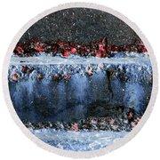 Round Beach Towel featuring the photograph Art Print Abstract 16 by Harry Gruenert