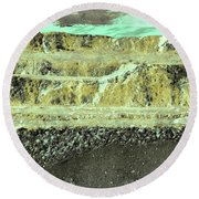Round Beach Towel featuring the photograph Art Print Abstract 18 by Harry Gruenert
