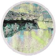 Round Beach Towel featuring the photograph Art Print Abstract 24 by Harry Gruenert