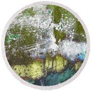Round Beach Towel featuring the photograph Art Print Abstract 30 by Harry Gruenert