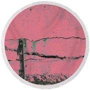 Round Beach Towel featuring the photograph Art Print Walls 50 by Harry Gruenert