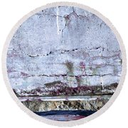 Round Beach Towel featuring the photograph Art Print Whites 31 by Harry Gruenert