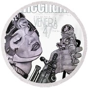 arteMECHANIX 1902 VENERA47 Pt.2 GRUNGE Round Beach Towel