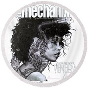 arteMECHANIX 1903 VENERA47 Pt.3 GRUNGE Round Beach Towel