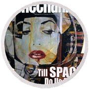 arteMECHANIX 1909 TILL SPACE GRUNGE Round Beach Towel