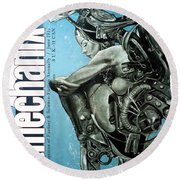 arteMECHANIX 1931 REVERIE  GRUNGE Round Beach Towel
