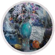 Articulated Melody Round Beach Towel