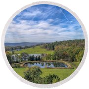 Artistic Hdr Sky  Round Beach Towel