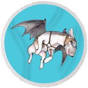 If Pigs Could Fly Round Beach Towel
