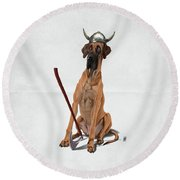 Round Beach Towel featuring the digital art Great Wordless by Rob Snow