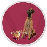 Round Beach Towel featuring the digital art The Long And The Short And The Tall Colour by Rob Snow