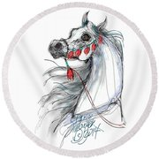 Always Equestrian Round Beach Towel