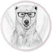 Geek Bear Round Beach Towel