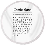 Comic Sans - Most Wanted Round Beach Towel