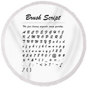 Brush Script - Most Wanted Round Beach Towel