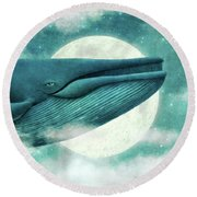 The Great Whale Round Beach Towel