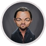 Celebrity Sunday - Leonardo Dicaprio Round Beach Towel