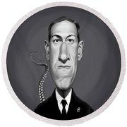 Celebrity Sunday - H.p Lovecraft Round Beach Towel