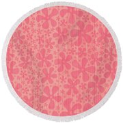 Tropical Floral Pattern Round Beach Towel