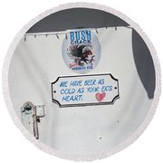 As Cold As Your Ex's Heart Round Beach Towel