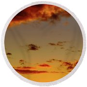 As The Sun Touches Round Beach Towel