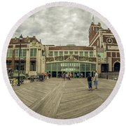 Asbury Park Convention Hall Round Beach Towel