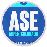 Ase Aspen Luggage Tag II Round Beach Towel