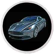 Aston Martin Db9 Round Beach Towel