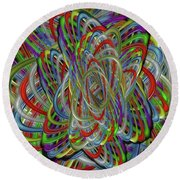 Astray Colors Round Beach Towel