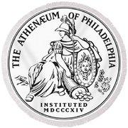 Athenaeum Of Philadelphia Logo Round Beach Towel