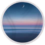 Round Beach Towel featuring the photograph Atlantic Beach Predawn Elements by Steven Sparks