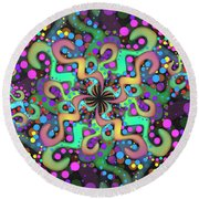 Round Beach Towel featuring the digital art Attire by Vitaly Mishurovsky
