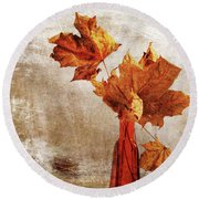 Round Beach Towel featuring the photograph Atumn In A Vase by Randi Grace Nilsberg