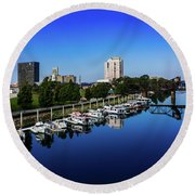 Augusta Ga Savannah River 2 Round Beach Towel