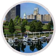 Augusta Ga Savannah River 3 Round Beach Towel