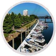 Augusta Ga - Savannah River Round Beach Towel