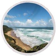 Australia Coastline Round Beach Towel