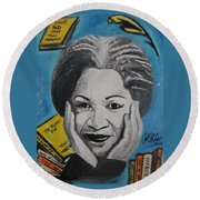 Author Toni Round Beach Towel