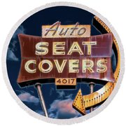 Auto Seat Covers Round Beach Towel