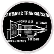 Automatic Transmission Power Loss Letdown Science Round Beach Towel