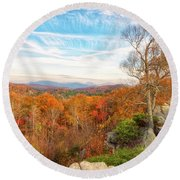 Round Beach Towel featuring the photograph Autumn Afternoon by Russell Pugh
