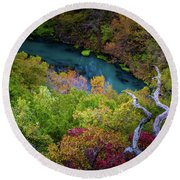 Autumn At Ha Ha Tonka State Park Round Beach Towel