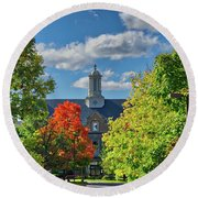 Round Beach Towel featuring the photograph Autumn Beauty At Cornell University - Ithaca, New York by Lynn Bauer