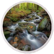 Round Beach Towel featuring the photograph Autumn Falling 2 by Bill Wakeley