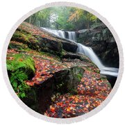 Round Beach Towel featuring the photograph Autumn Falling 3 by Bill Wakeley