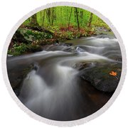 Round Beach Towel featuring the photograph Autumn Flow by Bill Wakeley
