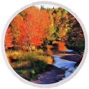 Autumn Glamour Round Beach Towel