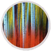 Autumn In Color Round Beach Towel