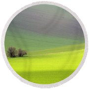 Autumn In South Moravia 13 Round Beach Towel